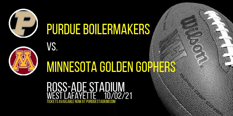Purdue Boilermakers vs. Minnesota Golden Gophers at Ross-Ade Stadium